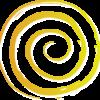 yellow spiral circle of life